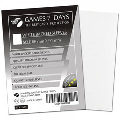 Протекторы для карт 66x91 с белой обложкой (Card Sleeves 66x91 WHITE)