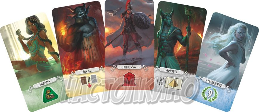 Настольная игра 7 Wonders Duel: Pantheon (7 Чудес Дуэль: Пантеон)