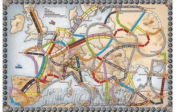 Настольная игра Билет на поезд: Европа (Ticket to Ride: Europe)