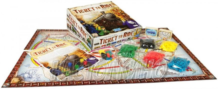 Настольная игра Билет на поезд: Америка (Ticket to Ride)