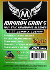 Настольная игра Custom Tiny Epic Kingdoms Sleeves: 88mm x 125mm (100 шт)